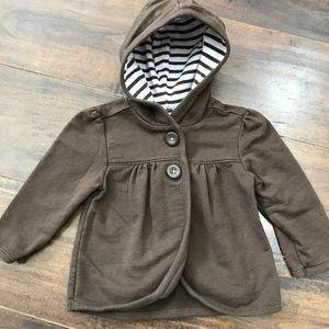Old navy 6-12 mos brown lightweight coat